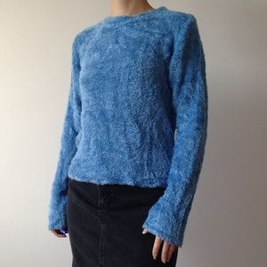 American Connection - Soft & Fuzzy Blue Sweater